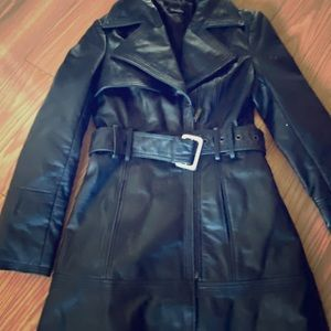 Bebe leather trench XS